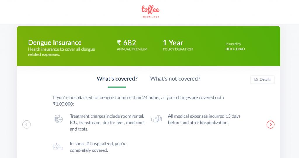 Toffee Insurance Dengue Plan